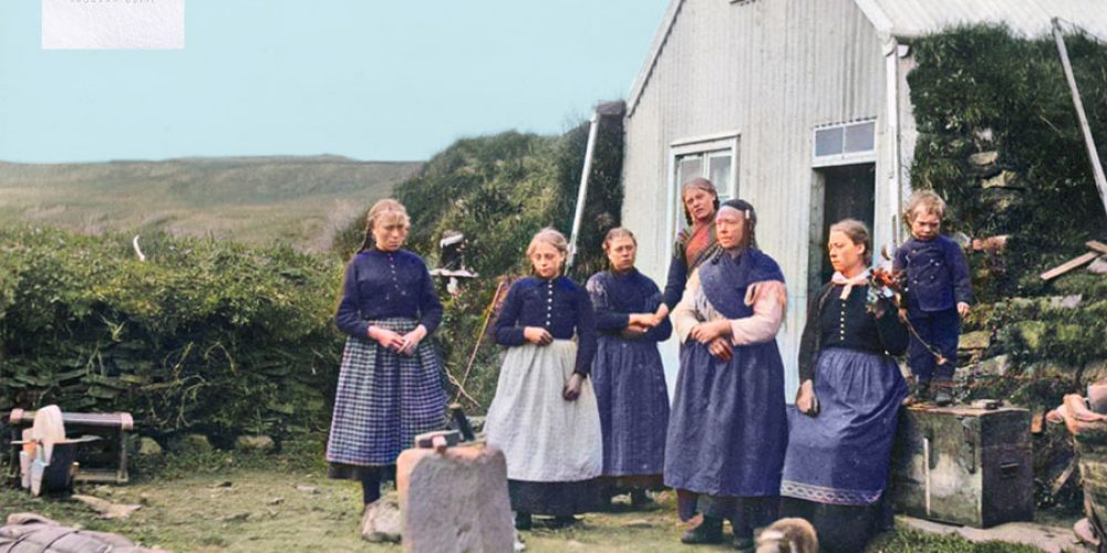 Family at Brattholt, near Gullfoss, Iceland, ca. 1900