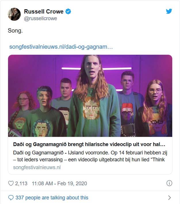 Russel Crowe about Daði